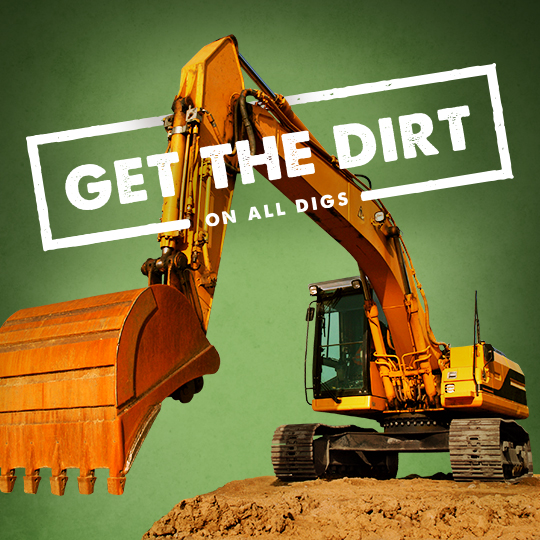get the dirt on all digs ad with excavator