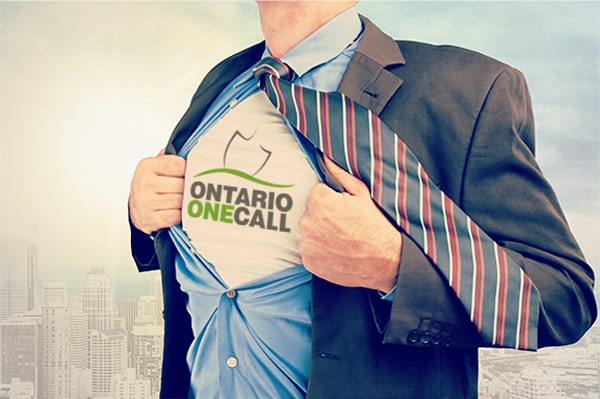 ontario one call logo on shirt
